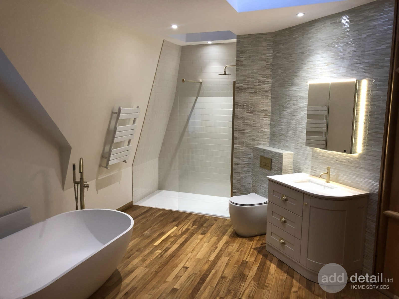 Large bathroom refurbishment in Muswell Hill, London. - Central London - London