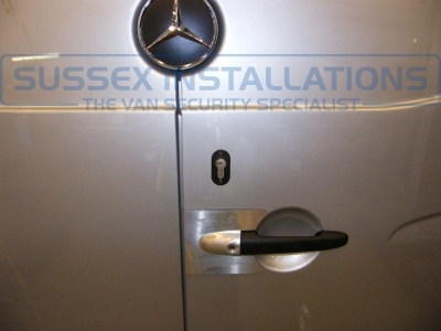 Double trouble!! For the theif as they would need to get by your existing security (now protected by Armaplate) and then there is a deadlock fitted too; which ought to deter boldest thief. - Mercedes - Sprinter - Sprinter (2006 - 2013) W906 - Sussex Installations T SERIES VAN DEADLOCKS GENERAL - Online Shop & Worldwide Delivery - Sussex - London & The South East