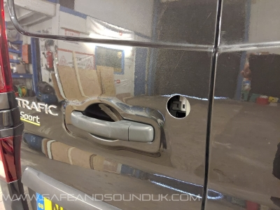 Renault - Trafic - Trafic (2014 - ON) - Locks 4 Vans Barn Door Cable Shield  - MANCHESTER - GREATER MANCHESTER