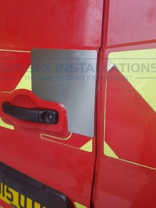 Nissan NV300 (2014-On) Oversize Barn Door External Shield - Sussex Installations VRNF-RB-INT&EXT-002   - Online Shop & Worldwide Delivery - Sussex - London & The South East