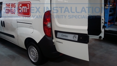 New Model Vauxhall Combo 2014 Nearside Rear - New Model Fords and Vauxhall Van Pictures from CV 2014 - Online Shop & Worldwide Delivery - Sussex - London & The South East