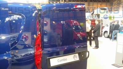 New Model Vauxhall Combo 2014 Back Door - New Model Fords and Vauxhall Van Pictures from CV 2014 - Online Shop & Worldwide Delivery - Sussex - London & The South East