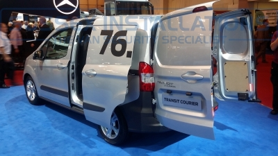 New Ford Transit Courier 2014 Nearside and Rear Doors - New Model Fords and Vauxhall Van Pictures from CV 2014 - Online Shop & Worldwide Delivery - Sussex - London & The South East
