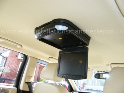 Jaguar X Type 2009 Roof Mounted DVD Player Installation - MANCHESTER - GREATER MANCHESTER