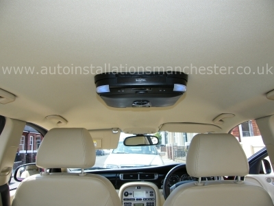 Jaguar - X-Type (02/2009) - Jaguar X Type 2009 Roof Mounted DVD Player Installation - MANCHESTER - GREATER MANCHESTER