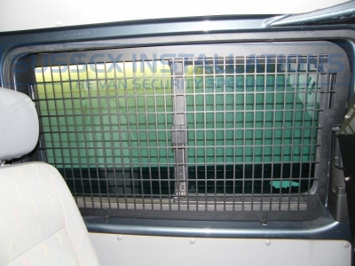 Grill that we fitted in the side load door. - VW - Transporter / Caravelle (null/nul) - VW Transporter T32 TDI Bulkhead and Window Grill - Online Shop & Worldwide Delivery - Sussex - London & The South East