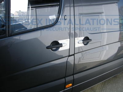 Mercedes - Sprinter - Sprinter (2006 - 2013) W906 (null/201) - Armaplate SENTINEL VAN HANDLE GUARDS - Online Shop & Worldwide Delivery - Sussex - London & The South East