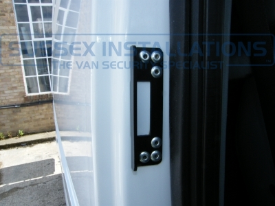 Drivers door deadlocks bracket pictured. - Ford - Transit - Transit MK7 (07-2014) - Sussex Installations T SERIES VAN DEADLOCKS GENERAL - Online Shop & Worldwide Delivery - Sussex - London & The South East