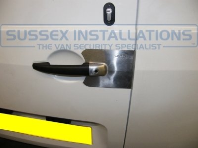 Citroen Berlingo 2011 Security Locked after Break In - Armaplate SENTINEL VAN HANDLE GUARDS - Online Shop & Worldwide Delivery - Sussex - London & The South East