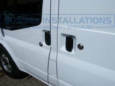 Front passenger and side load door slamlocks. - Ford - Transit - Transit MK7 (07-2014) - Locks 4 Vans T Series Slamlocks - Online Shop & Worldwide Delivery - Sussex - London & The South East