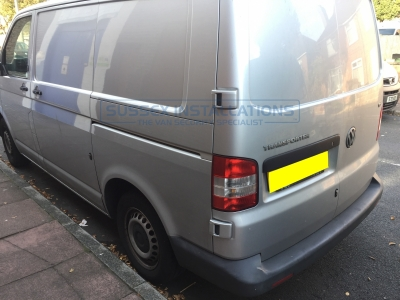 VW Transporter T5 2010 - Cab and Load Area deadlocks - Sussex Installations T SERIES DEADLOCKS - VW T5 & T6 - Online Shop & Worldwide Delivery - Sussex - London & The South East