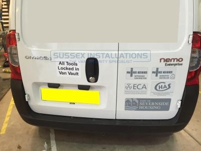 Citroen Nemo 2015 - Slam handles installation - Van Security - Sussex Installations CIT5-SH CITROEN NEMO SLAM HANDLE - Online Shop & Worldwide Delivery - Sussex - London & The South East