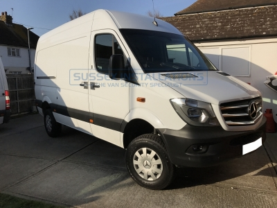 Mercedes Sprinter 4x4 2017 - Locks, Armaplate & Step Install - Sussex Installations T SERIES DEADLOCKS - MERCEDES - Online Shop & Worldwide Delivery - Sussex - London & The South East