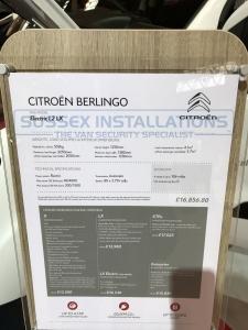 Citroen Berlingo 2017 - Miscellaneous - Online Shop & Worldwide Delivery - Sussex - London & The South East