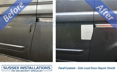 Ford Transit Custom side load door hole break in repair - Sussex Installations FOR3-NSL/OSL-EXT-001 (CUSTOM) - Online Shop & Worldwide Delivery - Sussex - London & The South East