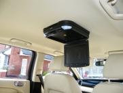 Jaguar - X-Type (02/2009) - Jaguar X Type 2009 Roof Mounted DVD Player Installation - BASILDON - ESSEX
