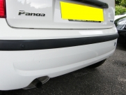 Fiat - Panda (09/2010) - Fiat Panda 2010 White with Black Rear Parking Sensors - CARLISLE - CUMBRIA