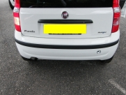 Fiat Panda 2010 White with Black Rear Parking Sensors - Steelmate PTS400EX - Chudleigh - Devon