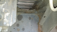Chassis rail prior to underbody Jet Wash - HGV Pre Inspection - Underbody Jet Wash - Eastbourne - Sussex, Surrey, Kent