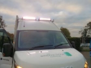 installation of led bar bar lights connected to main beam via switch - Iveco - Daily - Lighting - Maidstone - KENT