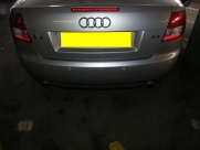 Audi A4 2009 Rear Parking Sensors in Silver - Steelmate PTS400EX - WEB DEVELOPMENT SERVICES - YOUR COUNTY