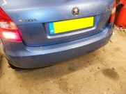 Skoda Fabia 2013 ParkSafe Rear Parking Sensors - ParkSafe PS740 - REDDITCH - WORCESTERSHIRE