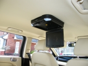 Jaguar - X-Type (02/2009) - Jaguar X Type 2009 Roof Mounted DVD Player Installation - north wales - Anglesey & Gwynedd