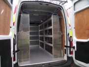 This Renault Master had the following fitted: - Ply lining - Sortimo racking - Hand wash system - Wisadec non-slip floor - Interior lighting -  - BRISLINGTON - Bristol- Gloucester - Somerset