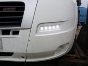 Fiat Ducato led day running lights, nearside, on - Fiat - Ducato - Ducato - (2006 - 2011) - Lighting Fiat Ducato LED DRL - Maidstone - KENT