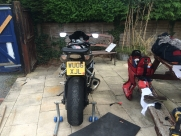 During installation - Suzuki (08/2006) - Motorbike CCTV Telemetry -   - West Midlands - Birmingham, Worc