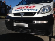 Vauxhall Vivaro DRL daylight running lights - BLACKPOOL - LANCASHIRE