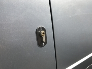 Deadlock fitted to side door of 2017 Toyota Proace (same as Citroen Dispatch & Peugeot Expert) - TVL T Series Deadlock - YATELEY - HAMPSHIRE
