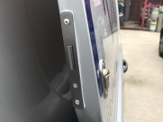 Deadlock fitted to side door of Citroen Dispatch (2007-2016) - TVL T Series Deadlock - YATELEY - HAMPSHIRE