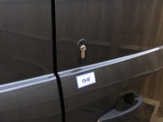 Ford Transit Mk8, Rear barn door. Key cylinder & warning sticker. - Van Locks - YATELEY - HAMPSHIRE