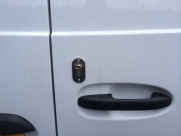 Thatcham approved van Deadlock, Rear barn door shown - Mercedes - Vito / Viano - Locks 4 Vans T Series Deadlocks - YATELEY - HAMPSHIRE