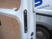 Thatcham approved van Deadlock, Rear barn door shown. - Mercedes - Vito / Viano - Locks 4 Vans T Series Deadlocks - YATELEY - HAMPSHIRE