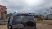Rear LED work lights and amber LED light bar - Emergency Vehicle Equipment - NEWBURY - BERKSHIRE