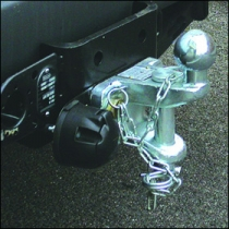 Towbar Drophitch Tow bar with single electrics and drop hitch DURHAM