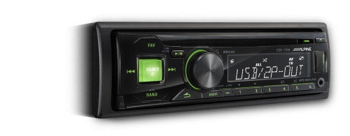 Alpine CDE-170R/RR/RM CD Receiver with USB Controller KENT