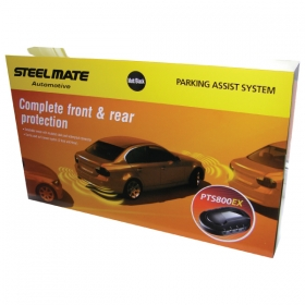 Steelmate PTS800EX-M8 Fully fitted front and rear parking sensor kit with visual displays MIDDLESEX