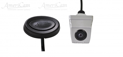 AmeriCam KF3S Discreet Silver MicroBlock Forward Facing Camera Kit Surface mount MicroBlock Forward facing parking camera kit KENT