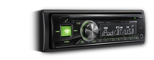 Alpine CDE-174BT CD Receiver with Rear USB and Bluetooth KENT