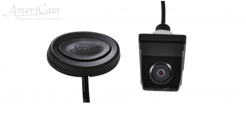 AmeriCam KF3B Discreet Black MicroBlock Forward Facing Camera Kit Surface mount MicroBlock Forward facing parking camera kit KENT