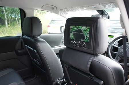 CKO 7 INCH DVD HEAD REST MONITORS With video games 7 Inch dvd head rest monitors with head phones BERKSHIRE