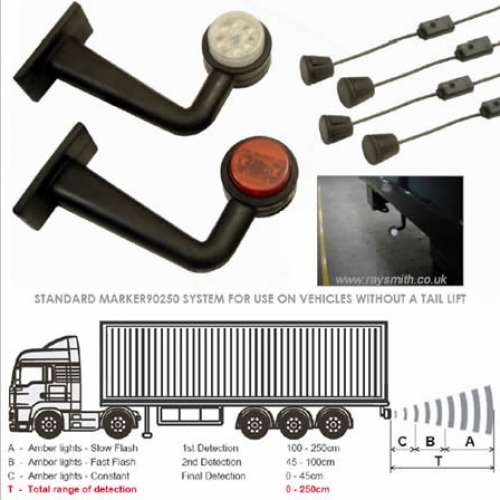 Autowatch MARKER90 reversing aid. Rigid and HGV trailer reversing system Jersey