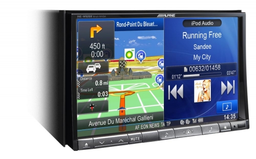 Alpine INE-W928R - KIT  - Complete Integrated Solution 8quot King Size Advanced Navi Station  For Vehicles WITHOUT Steering Wheel Controls KENT