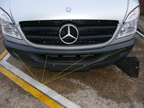 Steelmate PTS400EX-F Sprinter Front Fully fitted 4 sensor Mercedes Sprinter front parking sensors  audio only KENT