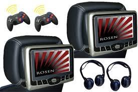 Rosen AV7700 Dual DVD, Dual Game Seat Back System Jersey