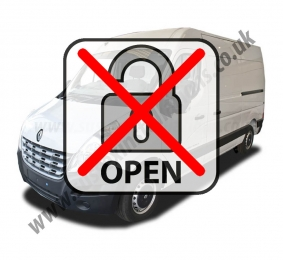 Sussex Installations REN6-LMOD RENAULT MASTER (2010 ONWARDS) Renault Master 2010 onwards Locking Modification to stop the manual door locking from unlocking the load area Sussex - London & The South East
