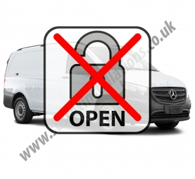 Sussex Installations MER4-LMOD MERCEDES VITO (2015 ONWARDS) Mercedes Vito 2015 onwards Locking Modification to stop the manual door locking buttons from unlocking the load area Rye